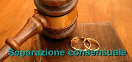 Separazione consensuale