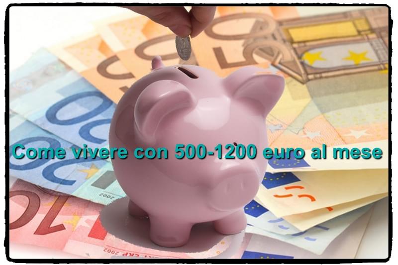 Come vivere con 500 euro al mese